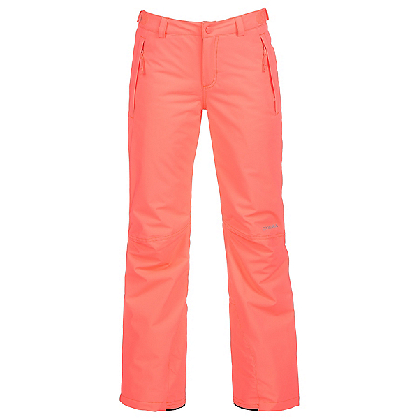 O'Neill Charm Girls Snowboard Pants, Neon Tangerine, 600