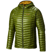 Mountain Hardwear Ghost Whisperer Hooded Down Jacket, Amphibian-Inca Gold, medium