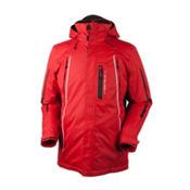 Obermeyer Whistler Mens Insulated Ski Jacket, True Red, medium