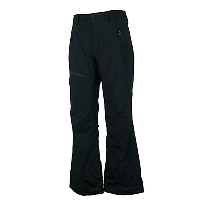 Obermeyer Quantum (Long) Mens Ski Pants, Black, viewer