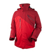 Obermeyer Poseidon Mens Insulated Ski Jacket, True Red, medium