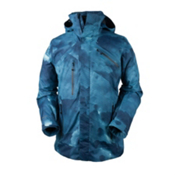 Obermeyer Poseidon Mens Insulated Ski Jacket, Squall Print, medium