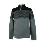 Obermeyer Hemsedal 1/4 Zip Mens Sweater, Heather Grey, medium