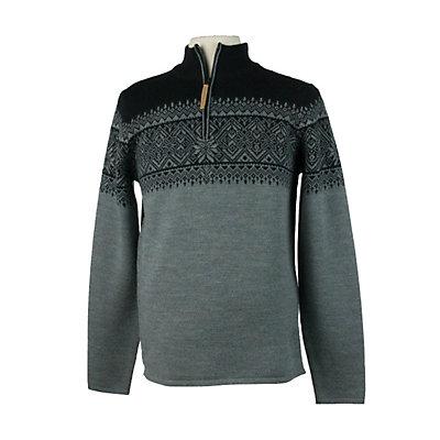 Obermeyer Hemsedal 1/4 Zip Mens Sweater, Heather Grey, viewer