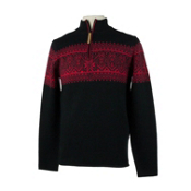 Obermeyer Hemsedal 1/4 Zip Mens Sweater, Black, medium