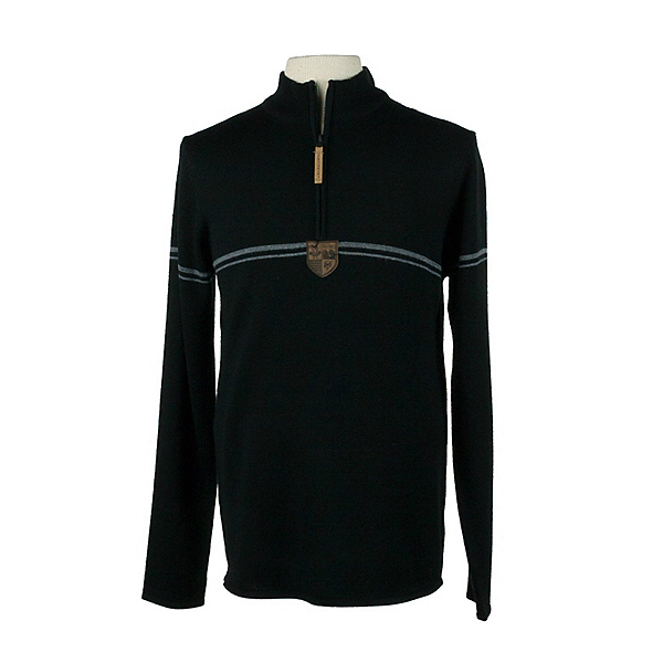 Obermeyer Zurich Half Zip Mens Sweater, Black, 600