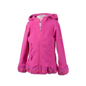 Obermeyer Poppy Fleece Zip Kids Hoodie, Wild Pink, medium