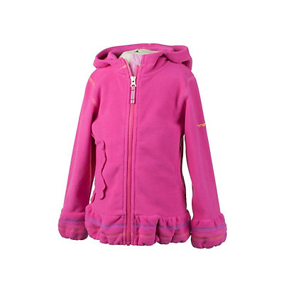 Obermeyer Poppy Fleece Toddler Girls Hoodie, Wild Pink, viewer