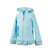 Obermeyer Poppy Fleece Toddler Girls Hoodie, Bluet, medium