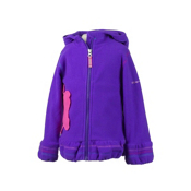 Obermeyer Poppy Fleece Toddler Girls Hoodie, Iris Purple, medium