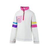 Obermeyer Ski-Daddle Fleece Kids Midlayer, White, medium