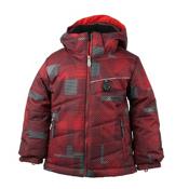 Obermeyer Strato Toddler Ski Jacket, Red Groomer Print, medium