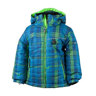 Obermeyer Strato Toddler Ski Jacket, Red Groomer Print, viewer