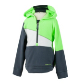 Obermeyer Cruiser Fleece Top Hoody Kids Midlayer, Glowstick, medium