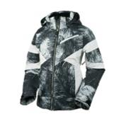 Obermeyer Lexi Girls Ski Jacket, Feather Print, medium
