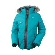 Obermeyer Reina Girls Ski Jacket, Mediterranean, medium