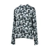 Obermeyer Treeline Girls Long Underwear Top, Arctic Flower, medium