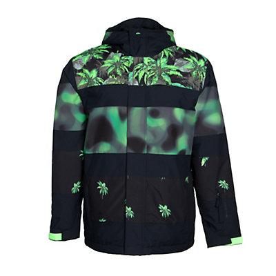 Quiksilver Fiction Mens Insulated Snowboard Jacket, Green Gecko, viewer