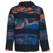 Quiksilver Fiction Mens Insulated Snowboard Jacket, Shocking Orange, medium