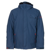Quiksilver Mission Plain Mens Insulated Snowboard Jacket, Dark Denim, medium