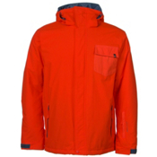 Quiksilver Mission Plain Mens Insulated Snowboard Jacket, Poinciana, medium