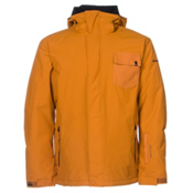 Quiksilver Mission Plain Mens Insulated Snowboard Jacket, Pumpkin Spice, medium