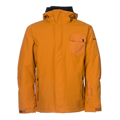 Quiksilver Mission Plain Mens Insulated Snowboard Jacket, Poinciana, viewer