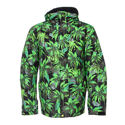 Quiksilver Mission Printed Mens Insulated Snowboard Jacket, Sweaty Palms Green, viewer