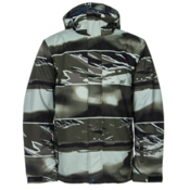 Quiksilver Mission Printed Mens Insulated Snowboard Jacket, Alaskan Camo Military Remix, medium