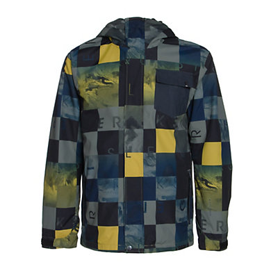 Quiksilver Mission 3 in 1 Mens Insulated Snowboard Jacket, Alaskan Camo Military, viewer