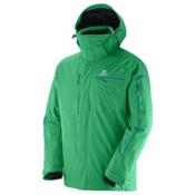 Salomon Brilliant Mens Insulated Ski Jacket, Real Green, medium
