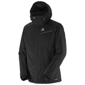 Salomon Fantasy Mens Insulated Ski Jacket, Black, medium