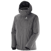 Salomon Fantasy Mens Insulated Ski Jacket, Galet Grey, medium