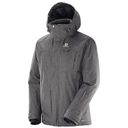 Salomon Fantasy Mens Insulated Ski Jacket, Galet Grey, 256