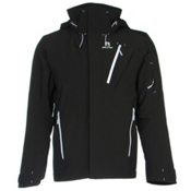 Salomon Iceglory Mens Insulated Ski Jacket, Black, medium