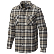 Mountain Hardwear Trekkin Long Sleeve Flannel Shirt, Chalk, medium