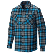 Mountain Hardwear Trekkin Long Sleeve Flannel Shirt, Dark Compass, medium