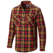 Mountain Hardwear Trekkin Long Sleeve Flannel Shirt, Rocket, medium