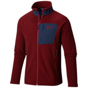 Mountain Hardwear Toasty Twill Mens Jacket, Smolder Red-Hardwear Navy, medium