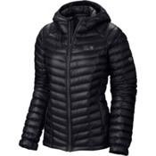 Mountain Hardwear Ghost Whisperer Down Hooded Womens Jacket, Black, medium
