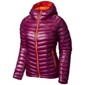 Mountain Hardwear Ghost Whisperer Down Hooded Womens Jacket, Dark Raspberry-Navel Orange, medium