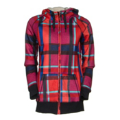 Roxy Resin Bonded Sherpa Womens Hoodie, Mauna Plaid, medium