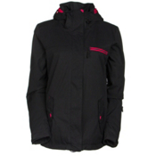 Roxy Jetty Solid Womens Insulated Snowboard Jacket, Anthracite, medium