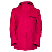 Roxy Jetty Solid Womens Insulated Snowboard Jacket, Azalea, medium