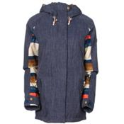 Roxy Lodge Womens Insulated Snowboard Jacket, Denim Blue, medium