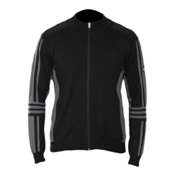 Descente Team Mens Sweater, Black-Charcoal Gray, medium