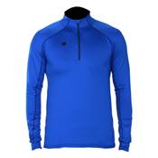 Descente Hans T-Neck Mens Mid Layer, Royal Blue, medium