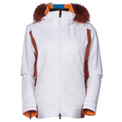 Mountain Force Rochelle Womens Insulated Ski Jacket, White-Picante, medium