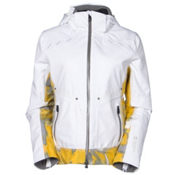 Mountain Force Rider Print Womens Insulated Ski Jacket, White-Yellow-Multi Color Print, medium