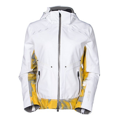 Mountain Force Rider Print Womens Insulated Ski Jacket, White-Yellow-Multi Color Print, viewer